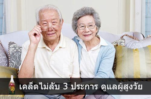 ดูแลผู้สูงอายุ กับ เคล็ดไม่ลับ 3 ประการ